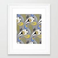 Breakfast Paisley Framed Art Print