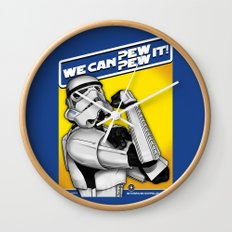 Stormtrooper: 'WE CAN PEW-PEW IT!' Wall Clock