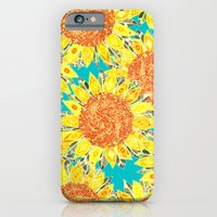 sunflower field iPhone 6 Slim Case