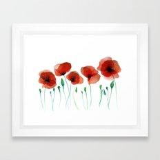 Poppies 2015 Framed Art Print