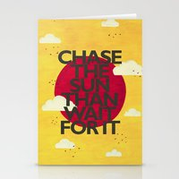 Chase The Sun Stationery Cards