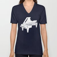 Music Is The Key. Unisex V-Neck
