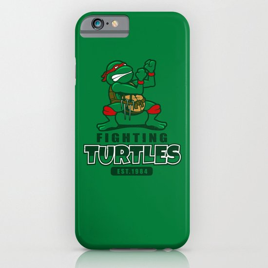 Fighting Turtles iPhone & iPod Case