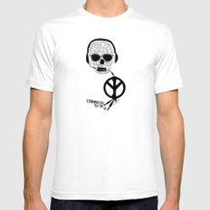 Love' skull -  a collaboration between Sam Guilhen and Gwenola de Muralt - Mens Fitted Tee SMALL White