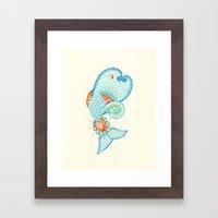 Monsieur Poisson Framed Art Print