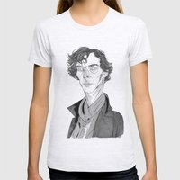 Benedict Cumberbatch - S… Womens Fitted Tee Ash Grey SMALL