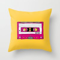 Vintage Mix Tape // Yell… Throw Pillow