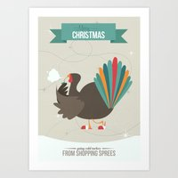 Merry Christmas - Going Cold Turkey from Shopping Sprees Art Print