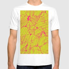Marble Splash Mens Fitted Tee SMALL White
