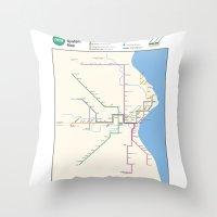 Milwaukee Transit System… Throw Pillow
