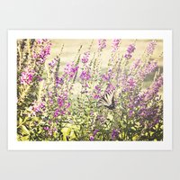 Fields of Butterflies Art Print