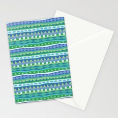 Stripey-Oceania Colors Stationery Cards