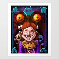 The Happy Mask Salesman Art Print