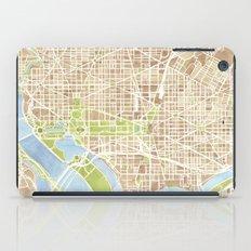 Washington DC watercolor city map iPad Case