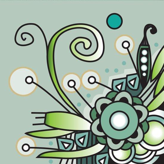 Ornate square zentangle, Jade Color Canvas Print