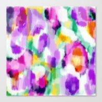 Zara - Bright purple, pink, green abstract art Canvas Print