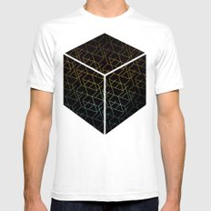 Cube Me Mens Fitted Tee SMALL White