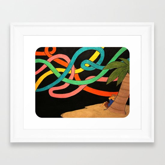 """""""Upon an Island Outside the Streams of Time"""" Framed Art Print"""