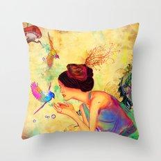 Sweet Content Throw Pillow