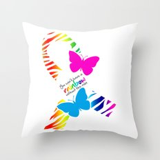 You can't have a Rainbow without the Rain - Awareness Ribbon Throw Pillow