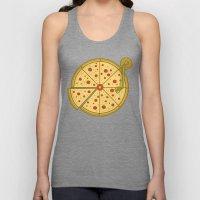Pizza Vinyl Unisex Tank Top