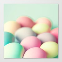 Colored Laid Eggs Canvas Print