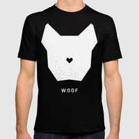 WOOF Mens Fitted Tee Black SMALL