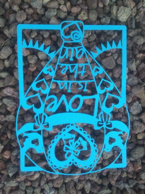 """Paper cut- """"Love is in the air"""" wall art Art Print"""