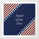 U.S.A. - Land Of The Free Art Print