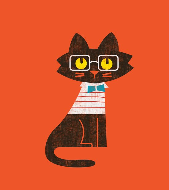 Fitz - Preppy cat Art Print