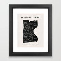 Hartford Map Framed Art Print