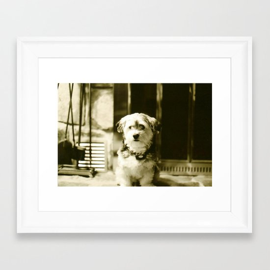 Watch Dog Framed Art Print