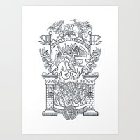 Satanic Rock Art Print