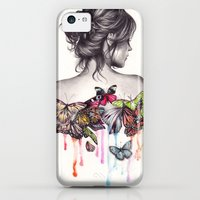 iPhone Cases featuring Butterfly Effect by KatePowellArt