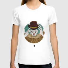 Pierrot...Pierrette Womens Fitted Tee White SMALL