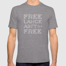 Freelance Ain't Free #2 Mens Fitted Tee Tri-Grey SMALL