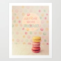just one more macaron Art Print