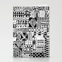 Black And White Icons Stationery Cards