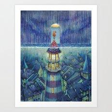Too much rain Art Print