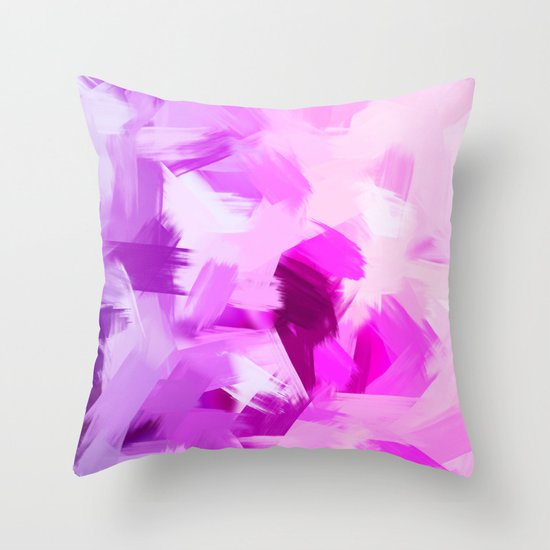 BLOSSOMS - VIOLET Throw Pillow