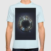 Seattle Mens Fitted Tee Light Blue SMALL