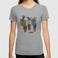 Cactus Womens Fitted Tee Athletic Grey SMALL