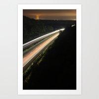 :: Highway At Night :: Art Print