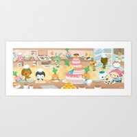 The Octonauts Vegimal Kitchen Art Print