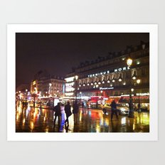 Paris: City Street Art Print