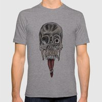 Skull Design Mens Fitted Tee Athletic Grey SMALL