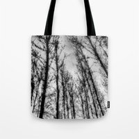 Monochrome Abstract Tree… Tote Bag