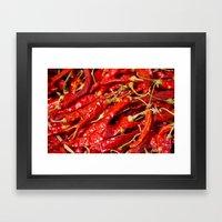 Red Chilies Drying Kathmandu Framed Art Print