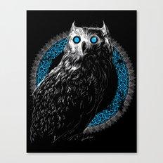 Midnight Owl - Teal Canvas Print