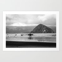 Morro Surfer Art Print